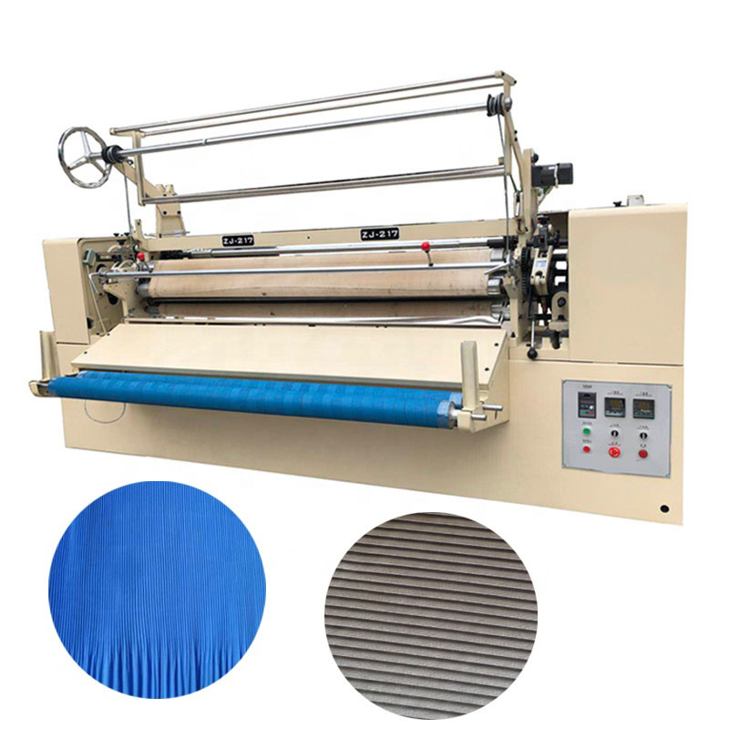 automatic fabric pleating machine
