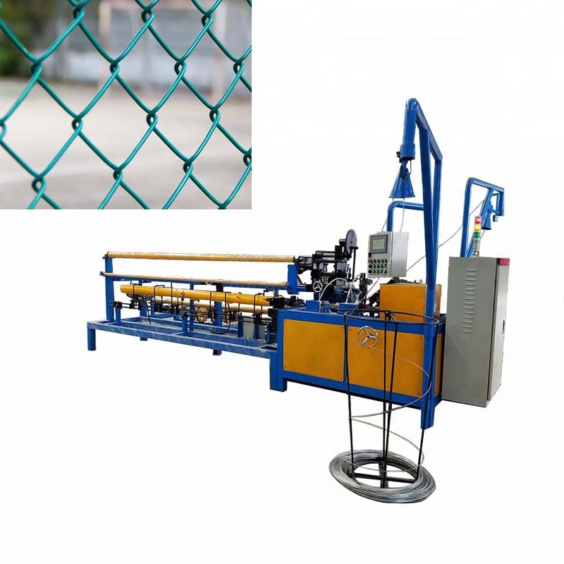 automatic double wire chain link fence making machine