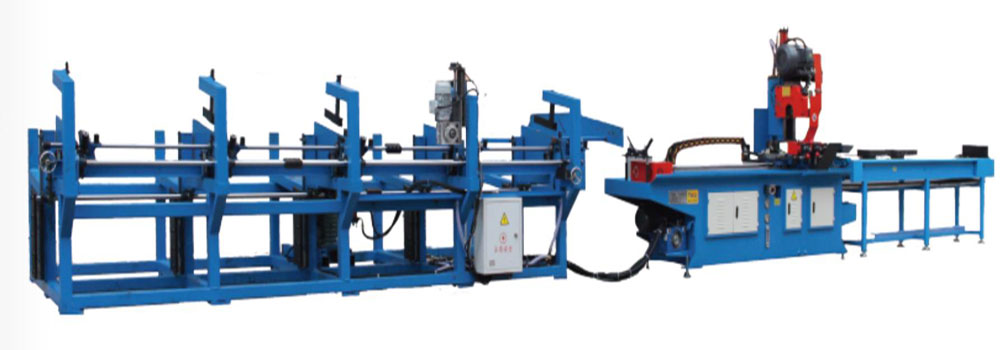 automatic pipe cutting and chamfering machine