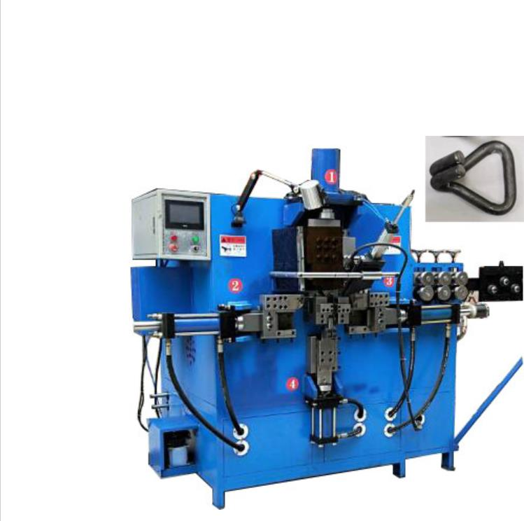 Double J hook making and welding machine